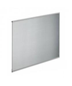 Fond de hotte en verre de 5mm d\'épaisseur style inox  60x70cm