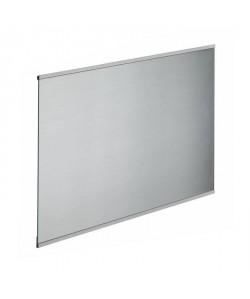 Fond de hotte en verre de 5mm d\'épaisseur style inox  90x70cm