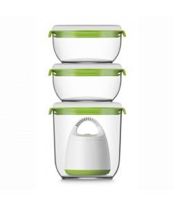 FOSA Kit de mise sous vide alimentaire en récipients 40000 1350600 ml blanc et vert