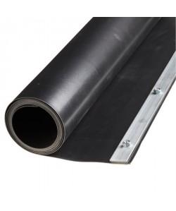 NATURE Barriere antiracinaire avec rail de fermeture  HDPE noir