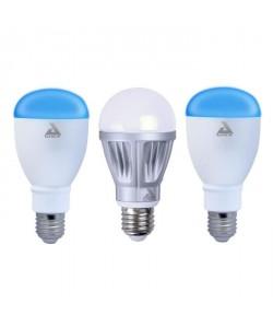 AWOX Lot de 3 ampoules LED avec une ampoule blanche dimmable E27 et 2 ampoules couleur E27 SmartLIGHT  Connecté