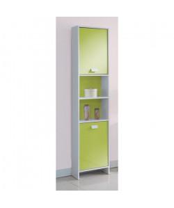 TOP Colonne de salle de bain L 40 cm  Blanc et vert mat