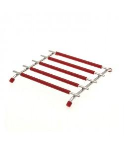 FRANDIS Dessous de plat carré silicone Métal  Rouge
