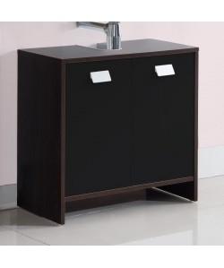 TOP Meuble sousvasque L 60 cm  Décor wengé et noir mat
