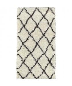 ASMA Tapis de couloir Shaggy Berbere  100% polypropylene  80x140 cm  Blanc creme