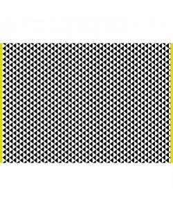Tapis d\'extérieur Verona  En polypropylene recyclé  120 x 180 cm  Noir et blanc