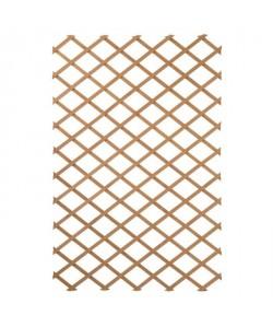 NATURE Treillis extensible en bois naturel 100x200cm  Marron