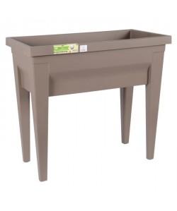 EDA Espace potager avec table City Veg&Table  73 x 38,5 x H 68 cm  57 L  Taupe