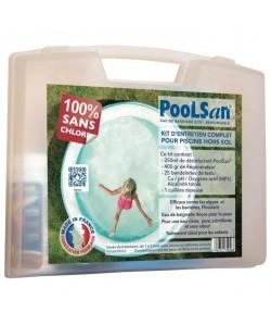 POOLSAN Kit complet de désinfection  100% sans chlore  Pour piscines hors sol