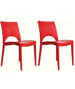 GREEN BOHEME lot de 2 chaises de jardin Paris  En polypropylene  Rouge
