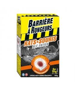 BARRIERE A RONGEURS Appât sur céréales pour rats et souris  Spécial lieux secs  150 g