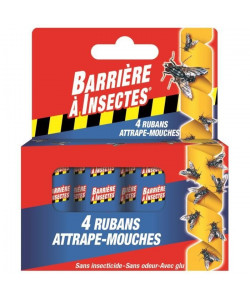 BARRIERE A INSECTES Ruban attrapemouches  4 rouleaux