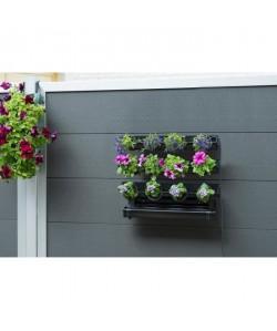 NATURE Kit tableau floral en acier 60xH50cm  Noir