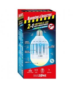 BARRIERE A INSECTES Etui 1 Ampoule LED Barzone antimoustiques 2en1