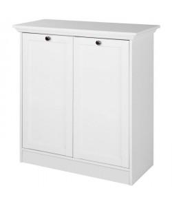 LANDWOOD Buffet classique 2 portes  Blanc  L 80 cm