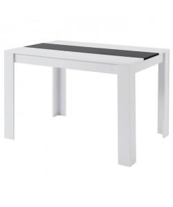DAMIA Table a manger de 4 a 6 personnes style contemporain blanc et noir mat  L 120 x l 80 cm