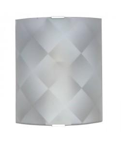 Applique en verre incurvé, dépoli et sérigraphié  20 x 25 cm