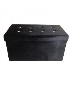 Banc coffre de rangement Diamant 76x38x38 cm noir