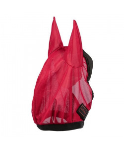EQUITHeME Masque antimouches ?Éclat? Rouge  Taille S