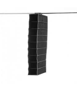 Etagere souple pour chaussures 9 niveaux URBAN en péva noir 15x30x128 cm