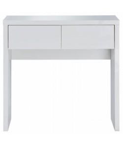 WHITNEY Console style contemporain laquée blanc brillant  L 80 cm