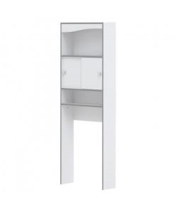 VESSA Meuble WC ou machine a laver L 64 cm  Blanc