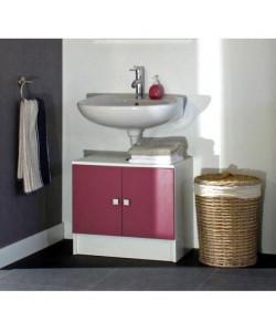 GALET Meuble sous lavabo L 60 cm  Rose fuchsia mat