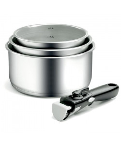 BACKEN Lot de 4 casseroles en inox