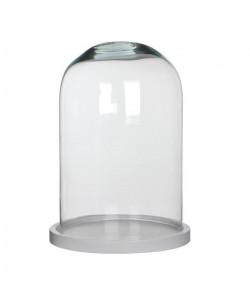 MICA Cloche Hella transparent  Blanc de bois  30 xŘ21,5 cm