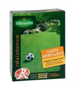VILMORIN Graines Gazon SPORT & JEUX Label Rouge 120 m˛  3 kg