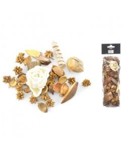 Pot pourri 140 g  8x30x5 cm  Parfum monoi  Blanc