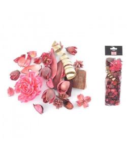 Pot pourri 140 g  8x30x5 cm  Parfum rose  Rose