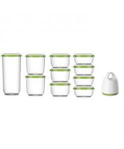 FOSA Kit de mise sous vide alimentaire en récipients  60085013502850 ml  Blanc et vert
