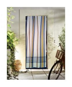 Rideau de porte Marseillais 140x225 cm bleu