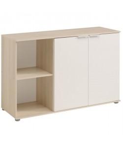 KEO Buffet bas décor acacia clair et blanc  L 120 cm