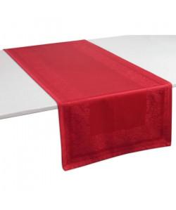 VENT DU SUD Chemin de table TRENTO  47x150 cm Rouge pavot