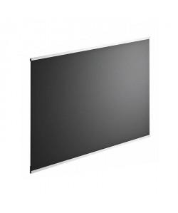 Fond de hotte en verre de 5mm d\'épaisseur  Noir  90x70cm