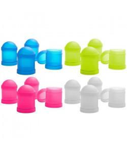 Lot de 4 Boîtes repas Nude food moving  Empilable  Plastique  Multicolore